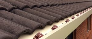 roof gutter incorrect fall - leaf guards